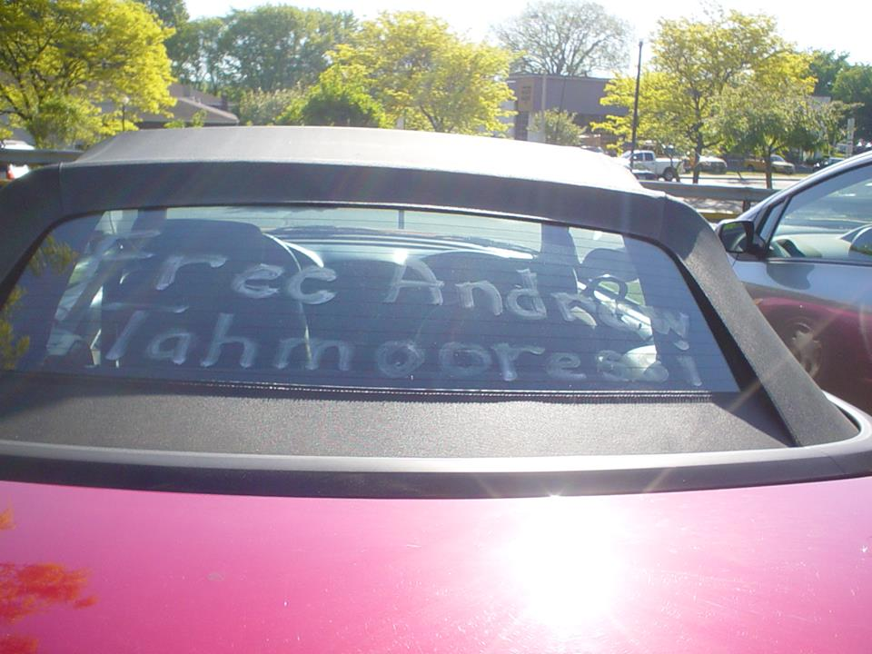 car with letters