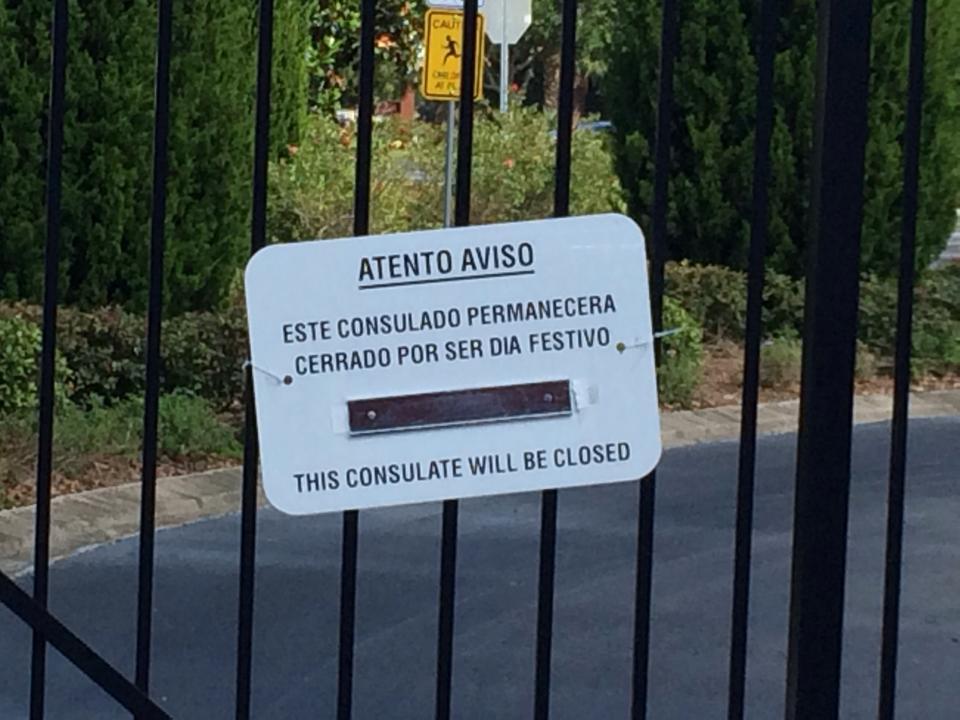orlando consulate closed