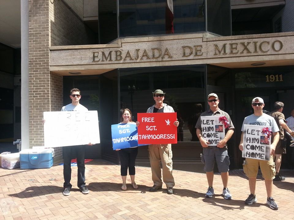 Rally at the Mexican embassy in Washington DC.