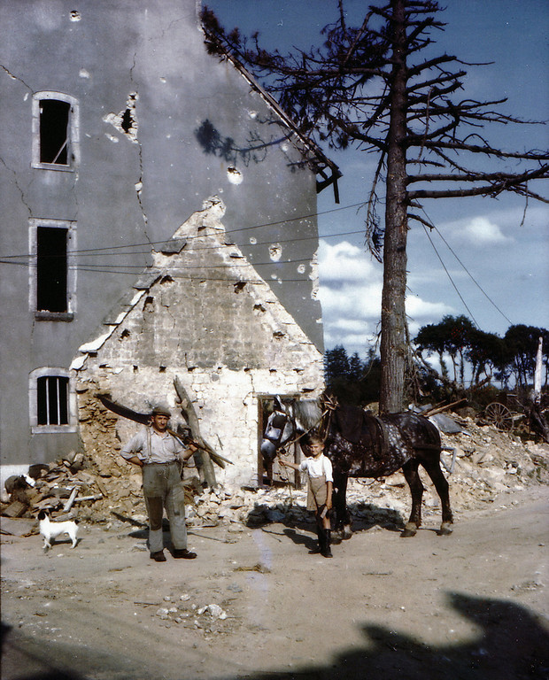 War Damage In Normandy